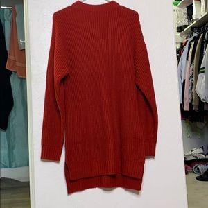 Tobi red sweater dress